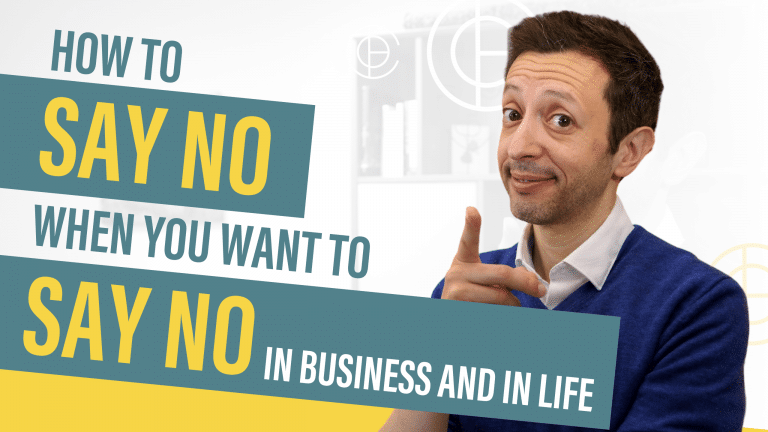 How to Say No When You Want to Say No - In Business and In Life