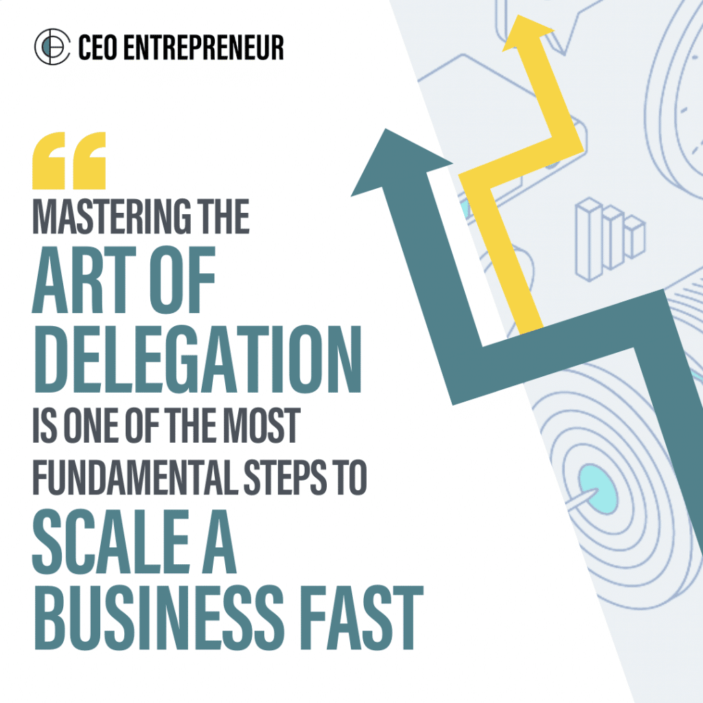 """Mastering the art of delegation is one of the most fundamental steps to scale a business FAST"""