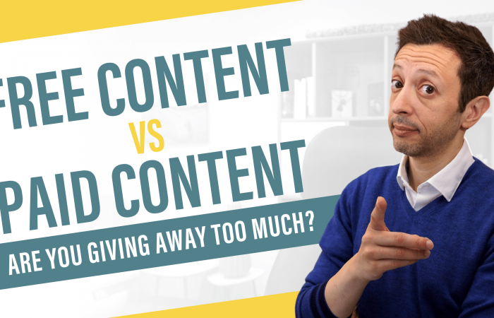 Free Content vs Paid Content - Are You Giving Away Too Much?